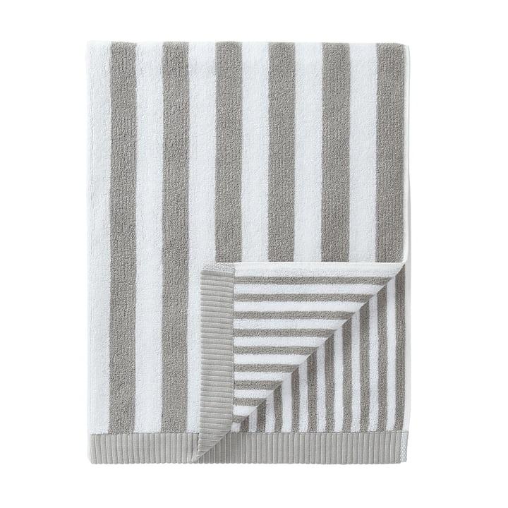 Marimekko - Serviette de bain Kaksi Raitaa, gris/blanc, 75x150cm