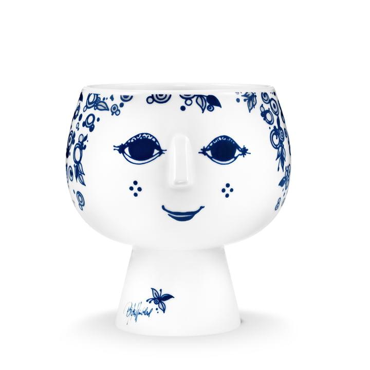 Bjørn Wiinblad - Cache-pot avec pied Juliane, Ø 13,4 cm, bleu