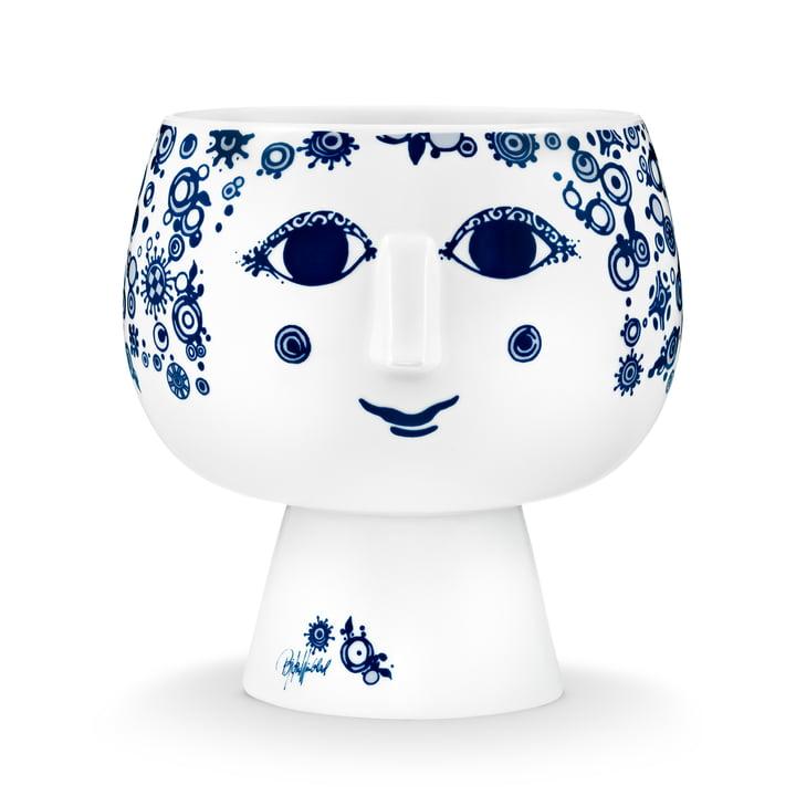 Cache-pot avec pied Juliane Ø 16 cm de Bjørn Wiinblad dans le bleu