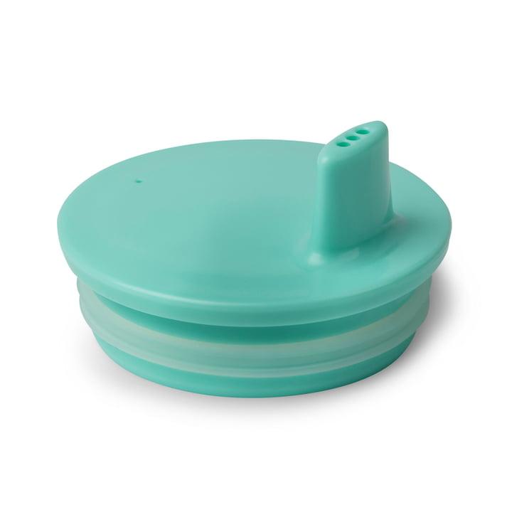 Couvercle de gobelet AJ de Design Letters en turquoise