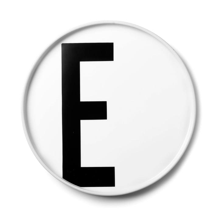Design Letters - AJ Assiette en porcelaine E