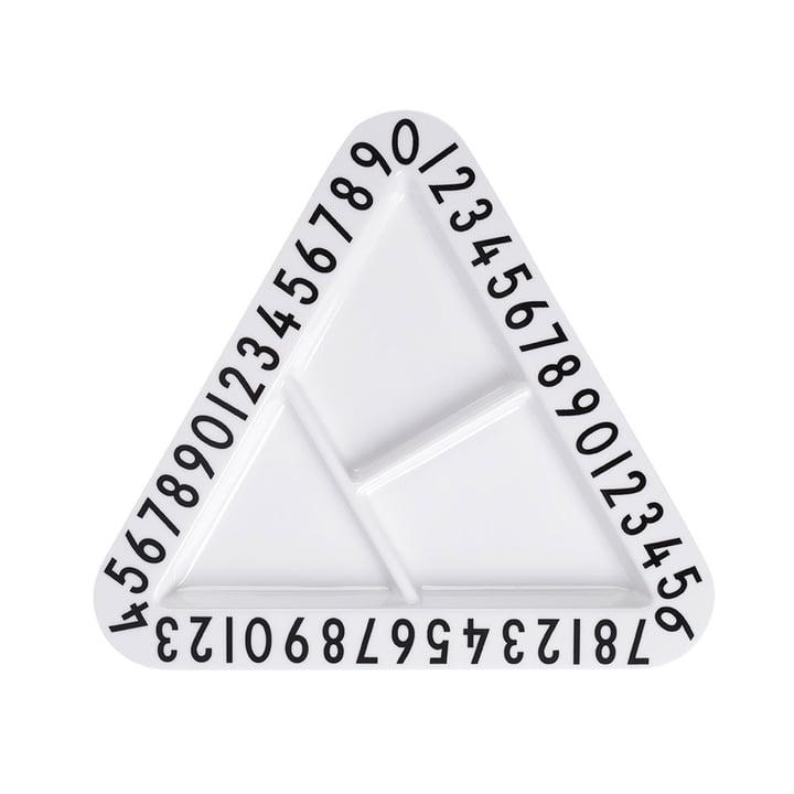 Design Letters - Assiette pour snack en mélamine AJ, triangulaire