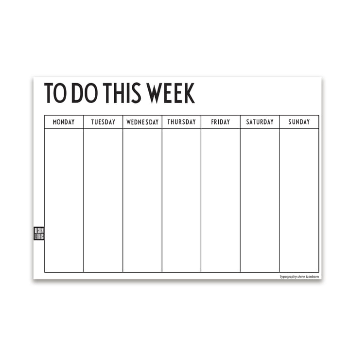 Design Letters - Weekly Planner A4