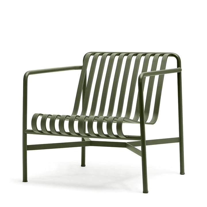 La Lounge Chair Low Palissade de Hay en olive