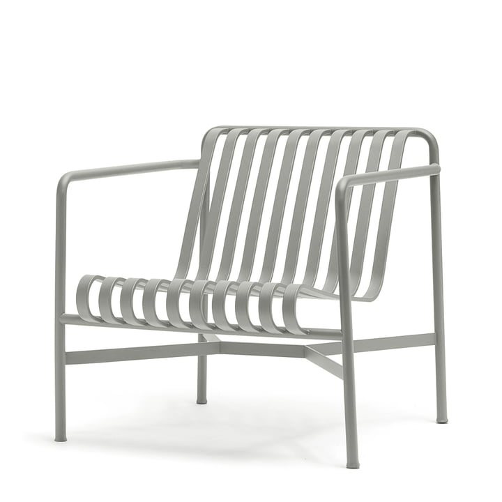The Palissade Lounge Chair Low en gris clair