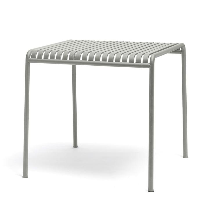 Table Palissade de Hay en gris clair - carrée avec une dimension de 80 x 80 cm