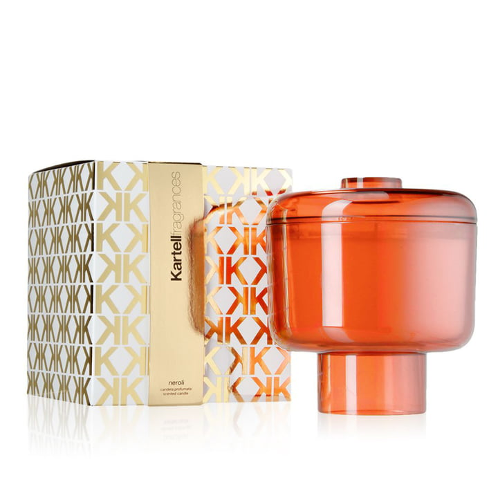 Bougie parfumée Nikko de Kartell en orange avec la senteur Neroli