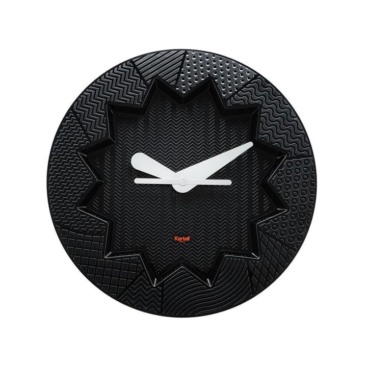 L'horloge murale Crystal Palace de Kartell en noir