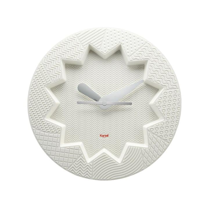 L'horloge murale Crystal Palace de Kartell en blanc