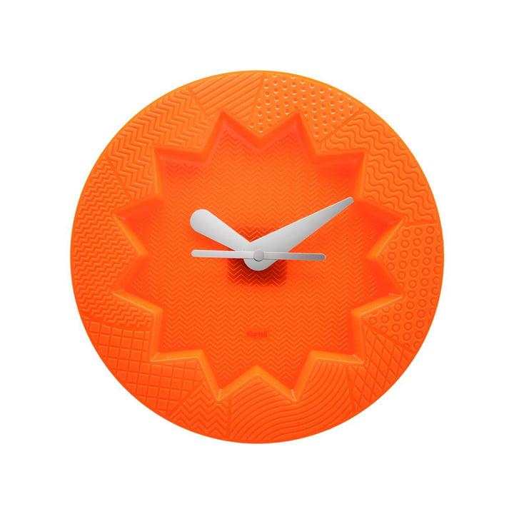 L'horloge murale Crystal Palace de Kartell en orange