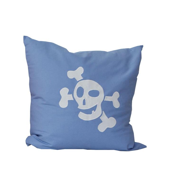 Coussin Pirat debe.deluxe de De Breuyn en bleu clair