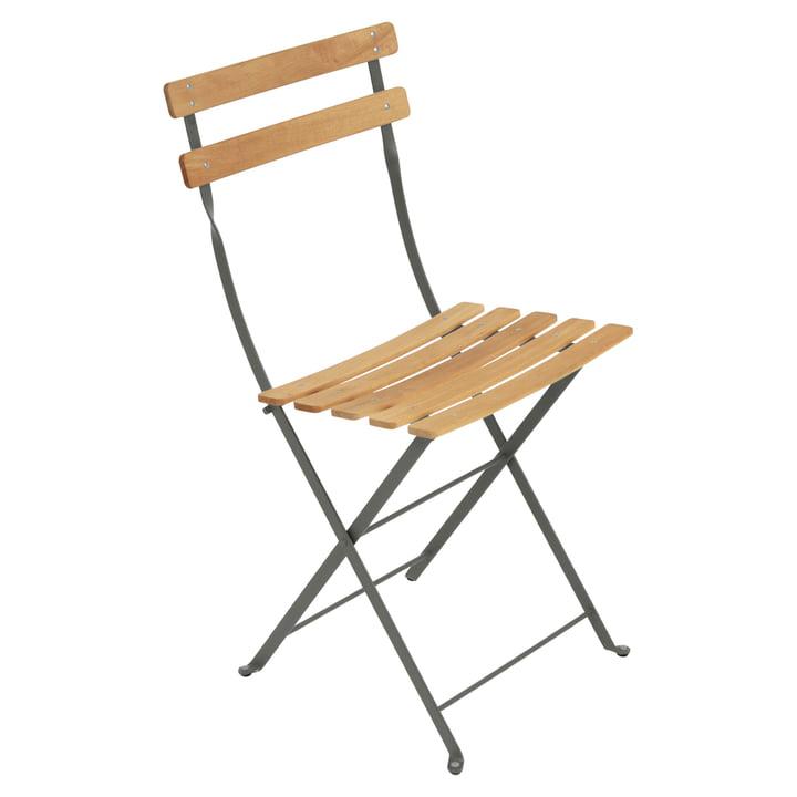 Chaise pliante Naturel Bistro de Fermob en couleur romarin