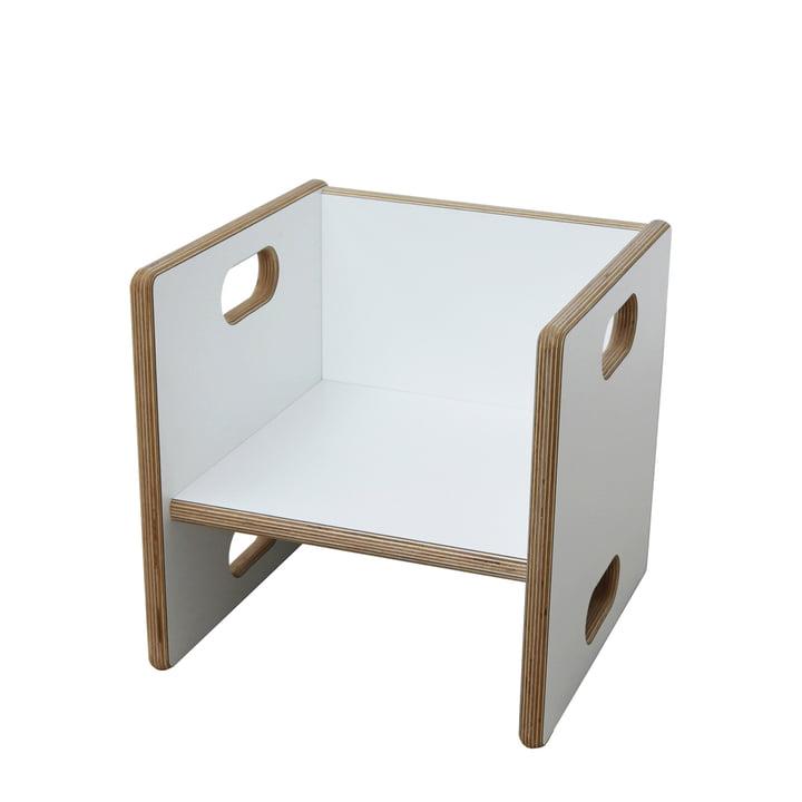 Chaise transformable debe.detail de De Breuyn en blanc/Hauteur d'assise de 17cm