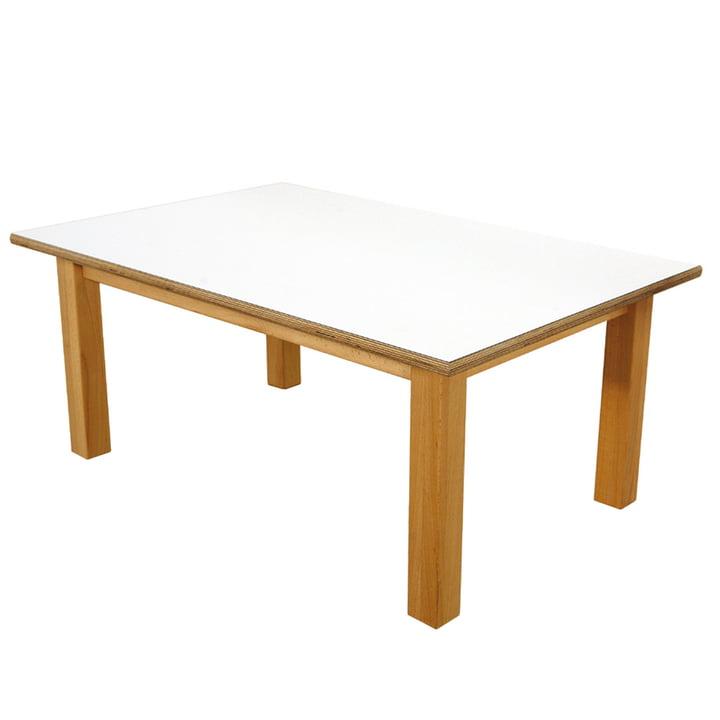 Table pour enfant 60 x 90cm debe.detail de De Breuyn en blanc