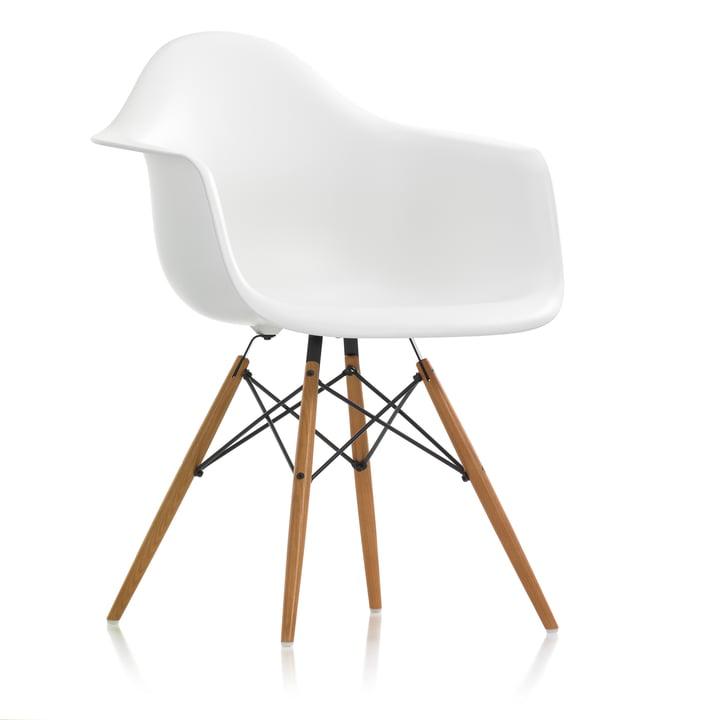 Vitra- Eames Plastic Armchair DAW, frêne miel / blanc