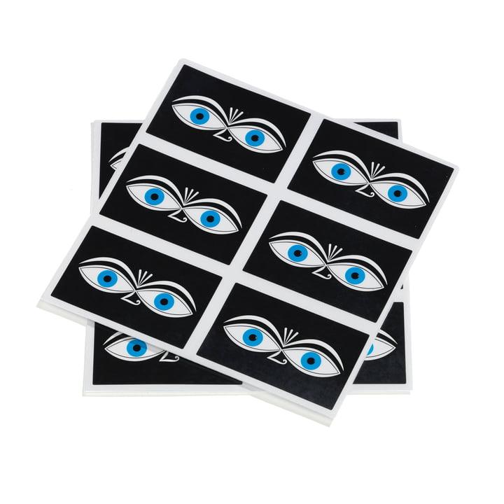 Autocollants Eyes par Vitra en bleu