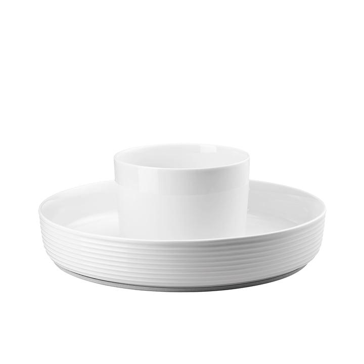 Le Ono Food Presenter de Thomas en blanc avec un diamètre de 33,5cm