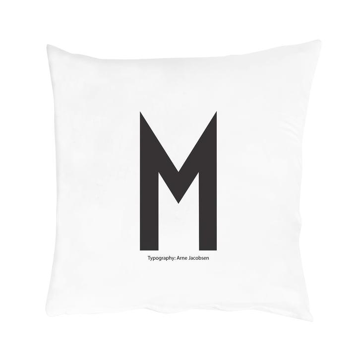 Design Letters - Housse de coussin de A-Z, M
