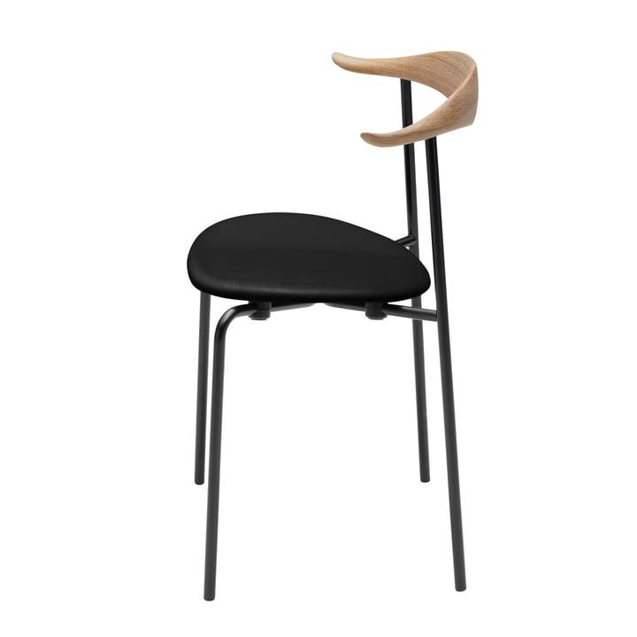 Carl Hansen - CH88P, chêne hhuilé / cuir noir (Loke 7150) / Structure : acier thermo-poudré noir