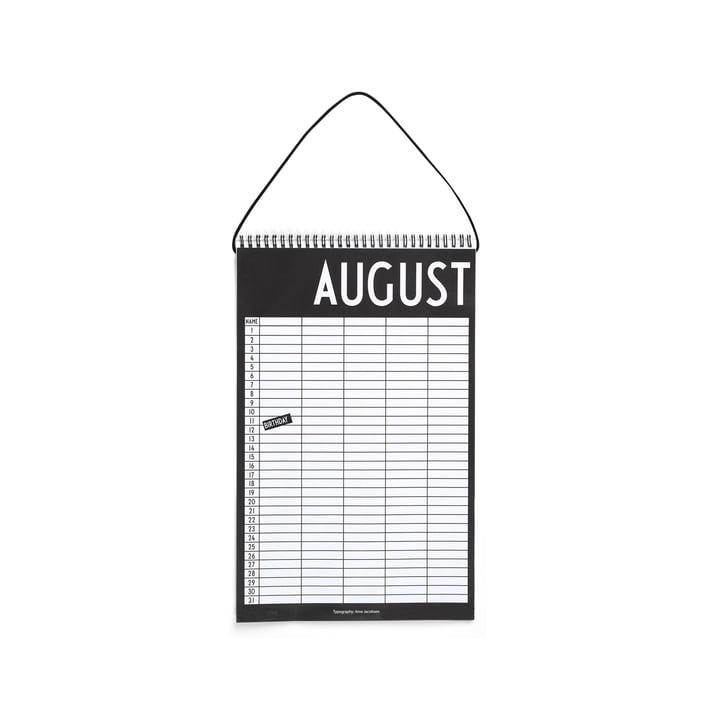 Calendrier mensuel de Design Letters