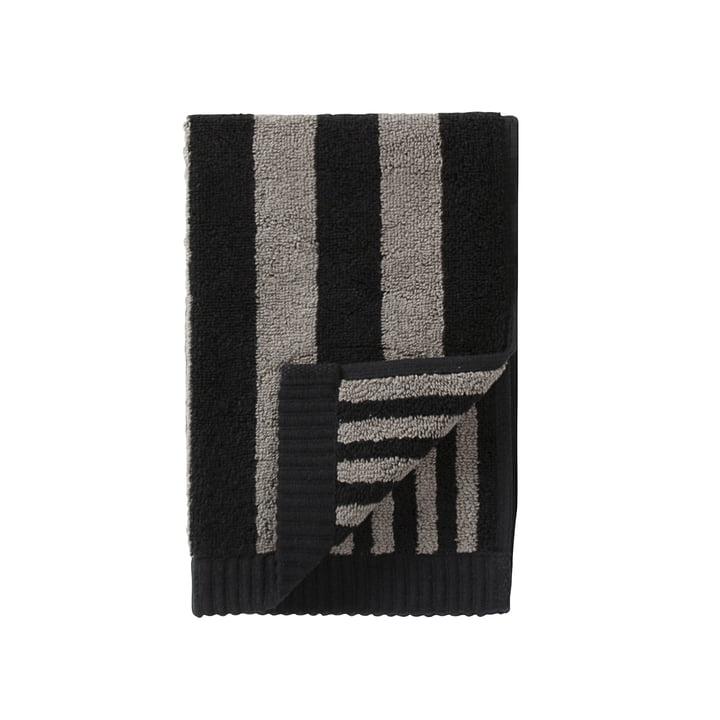 Marimekko - Serviette d'invité Kaksi Raitaa, gris/noir, 30x50cm