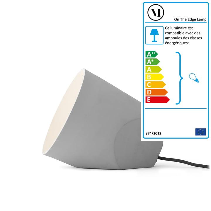 Menu - Lampe de table On The Edge Lamp, gris clair