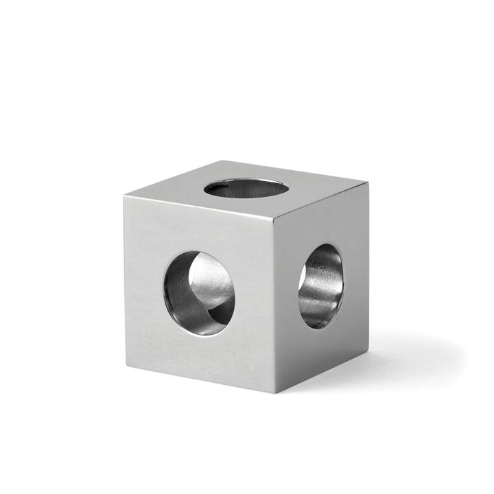Le bougeoir Cube par Menu en noir