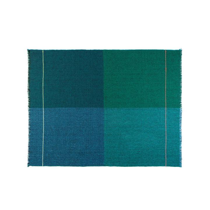 Couverture en laine Quaternio Blue 140×180cm de Zuzunaga