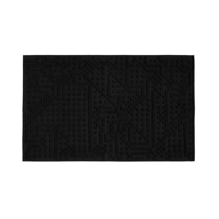 Tapis de salle de bain Route 50x80cm de Zuzunaga en noir