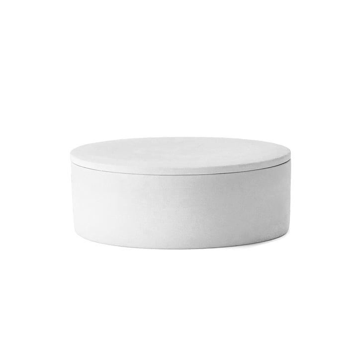 La boîte Cylindrical avec couvercle par Menu en blanc
