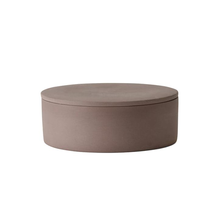 La boîte Cylindrical avec couvercle par Menu en taupe