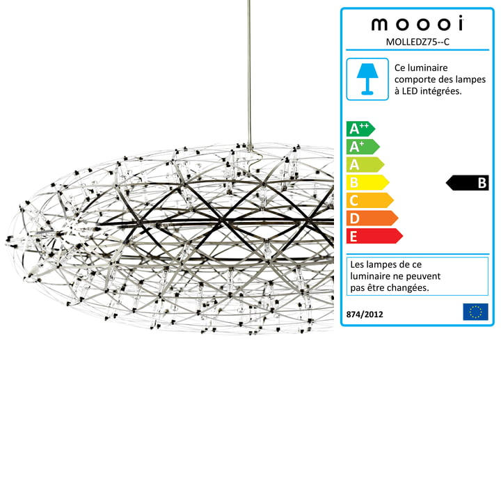 Suspension lumineuse Raimond Zafu de Moooi