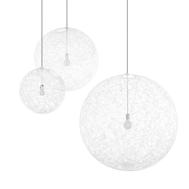 Lampe pendante à LED Random Light, petit blanc par Moooi