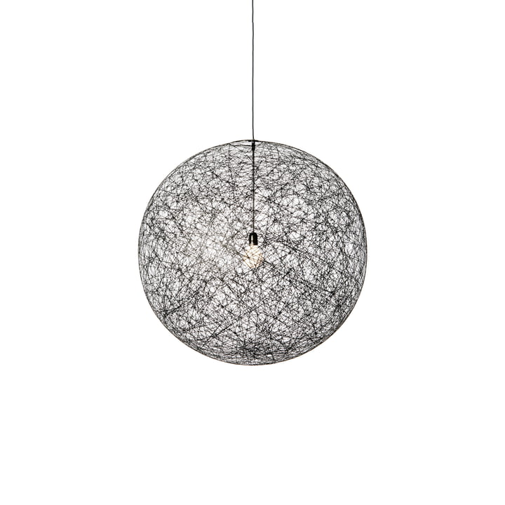 Moooi - Suspension lumineuse LED Random Light, grand modèle, noir