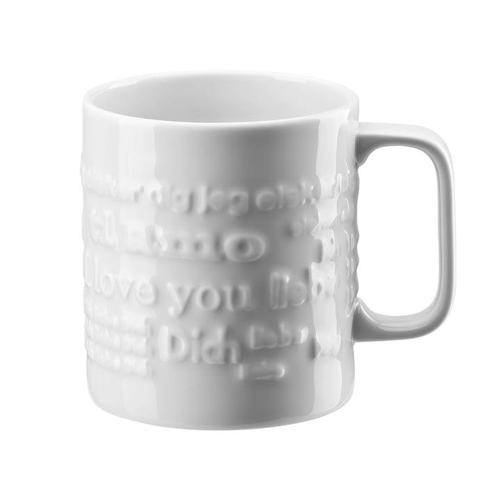 Le mug «Love Love» avec anse, grand format, 0,57l de Rosenthal