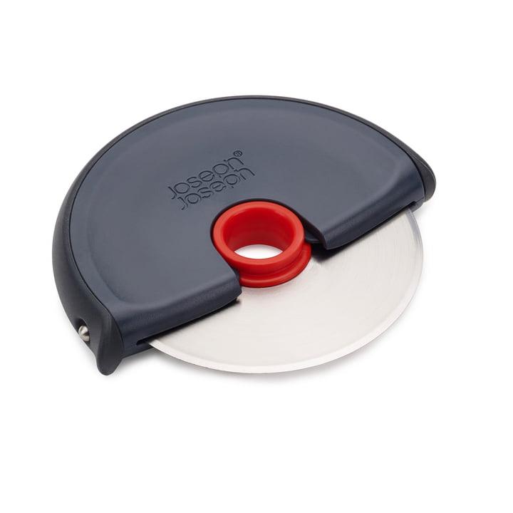 Roulette à pizza Disc de Joseph Joseph en gris et rouge