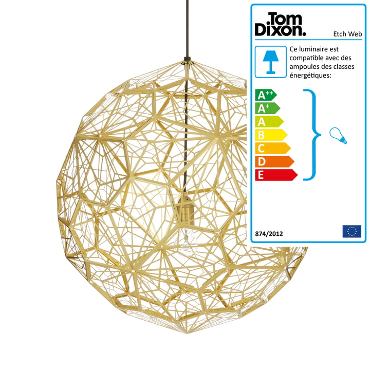 Suspension lumineuse Etch Web de Tom Dixon en laiton