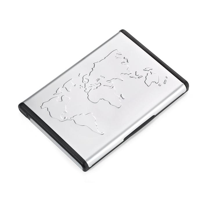 Troika - Étui pour cartes de visite Mr. Slowhand, aluminium