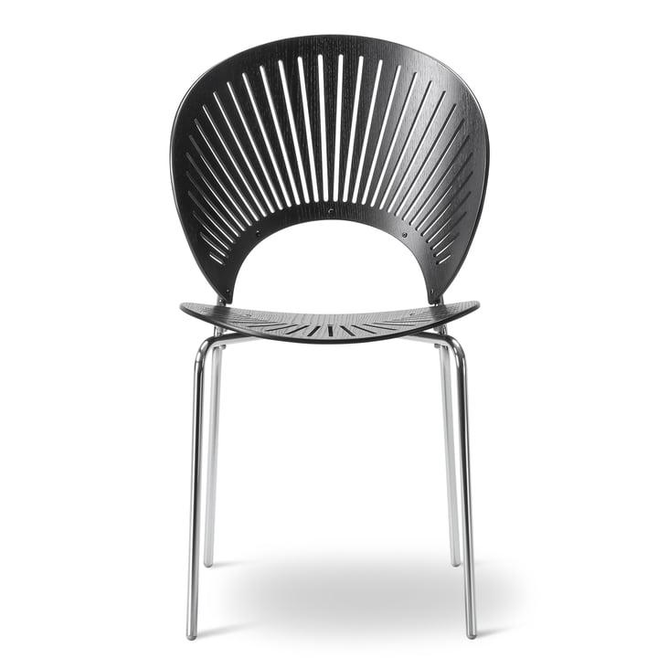 Chaise Trinidad de Frédéricia en noir/chrome