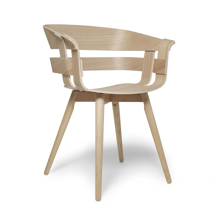 La Wick Chair Wood  en noir par design House Stockholm