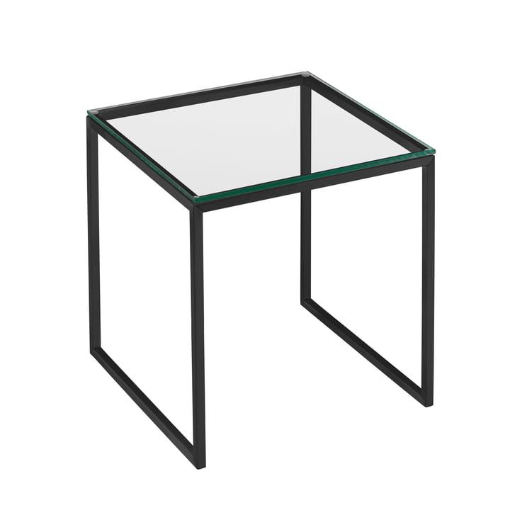 Hans Hansen - Less H 22/2 Table basse, piètement, noir / plateau en verre transparent