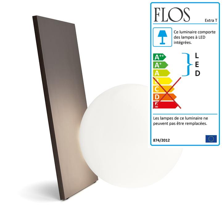 La Lampe de table Extra T en cuivre anodisé de Flos