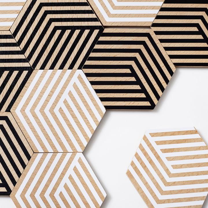 Dessous de verre Table Tiles Optic d'areaware