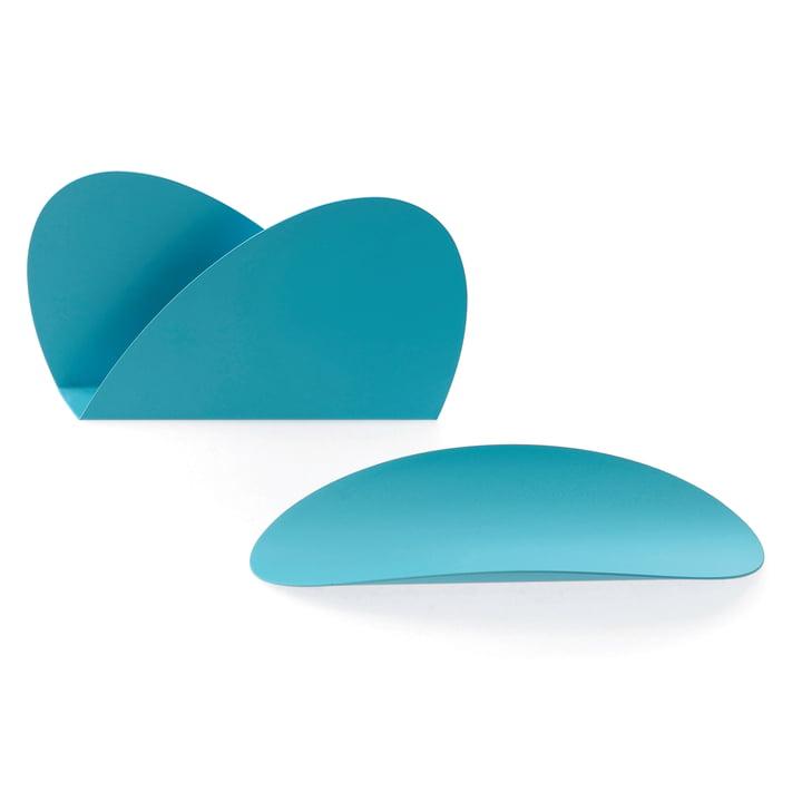 Set de bureau Ellipse par Alessi en turquoise