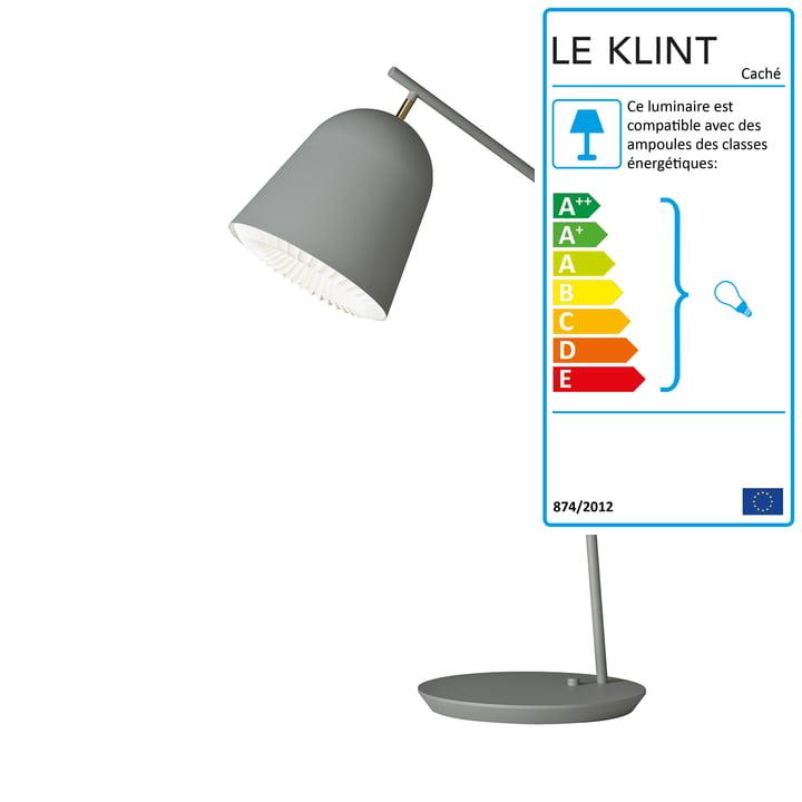 Lampe de table Caché de Le Klint en gris