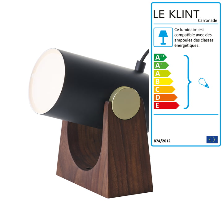 Lampe de table et murale Carronade de Le Klint