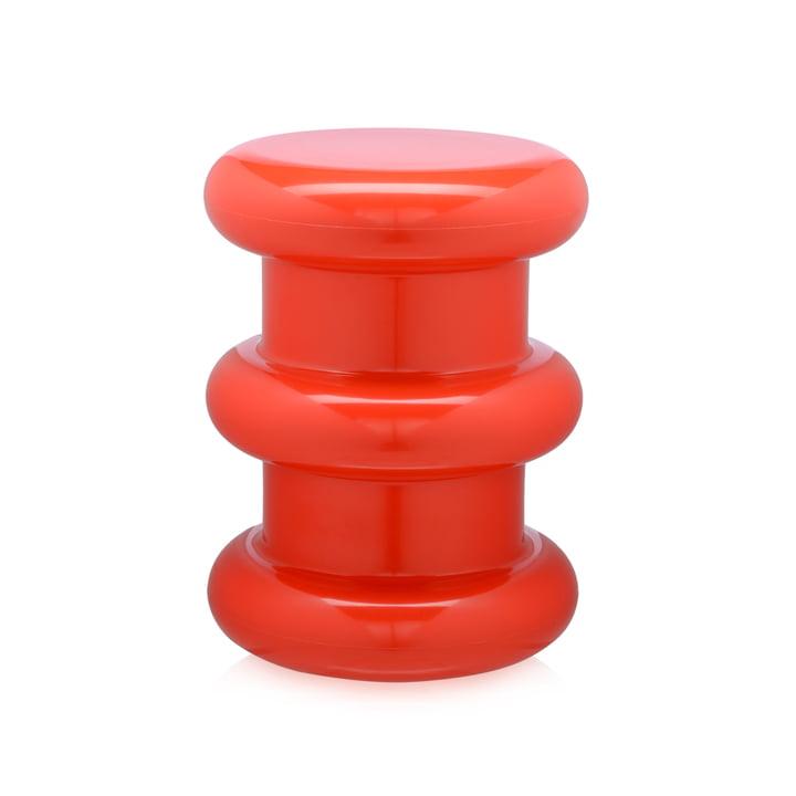 Pilastro tabouret/table d'appoint par Kartell en rouge