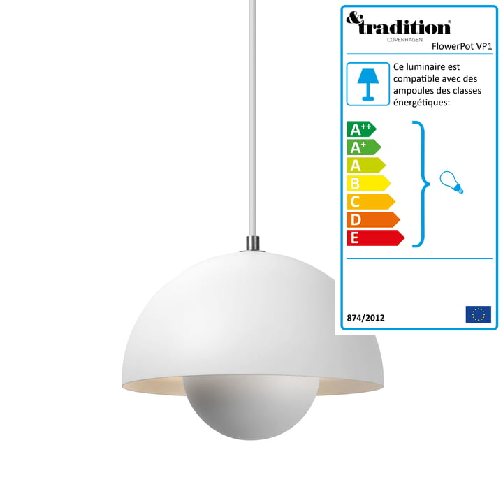 FlowerPot suspension lumineuse de &Tradition
