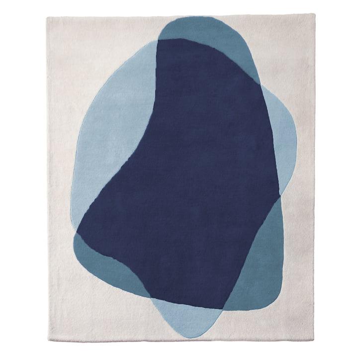 Tapis Serge de Hartô en bleu/gris