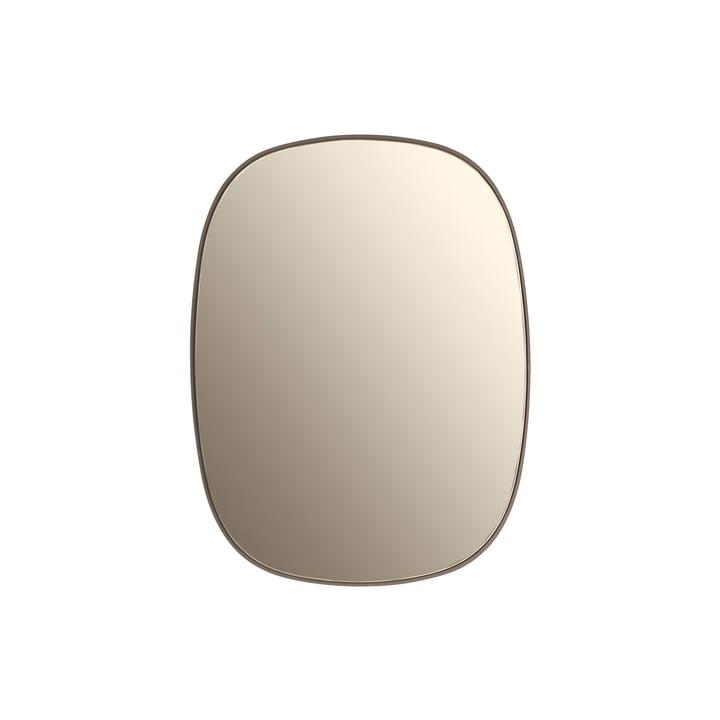 Le Framed miroir, petit en taupe / verre taupe
